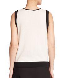 Raoul - Black Knit Contrast-trim Shell - Lyst