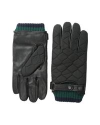 Ted Baker - Black Hofquil Quilted Nylon Leather Gloves - Lyst