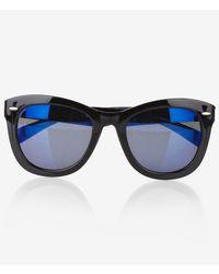 Express - Blue Lens Studded Sunglasses - Lyst