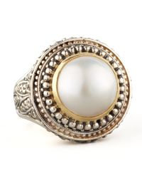 Konstantino | White Mabe Pearl Dome Ring | Lyst