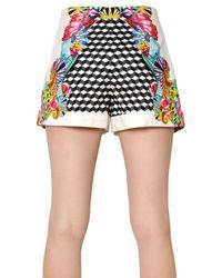 Manish Arora - White Printed Peached Cotton Shorts - Lyst