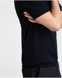 Zara | Blue Viscose Polo Shirt for Men | Lyst