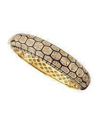 Roberto Coin | Metallic 18k Yellow Gold Diamond Turtle Cuff Bracelet | Lyst