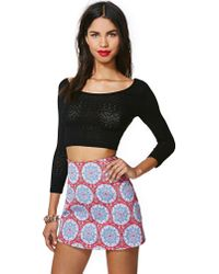 Nasty Gal | Blue Motel Annie Skirt Red | Lyst
