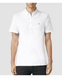 AllSaints | White Henning Polo Usa Usa for Men | Lyst