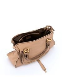 Chloé | Brown Clay Beige Leather Large 'Marcie' Tote Bag | Lyst