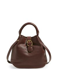 Etienne Aigner | Brown Mini Leather Bucket Bag | Lyst