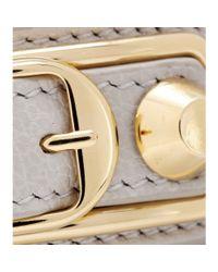 Balenciaga | Gray Metallic Edge Leather Wrap Bracelet | Lyst