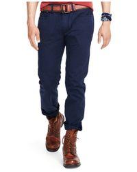 Polo Ralph Lauren | Blue Varick Slim-straight Stretch-twill Pants for Men | Lyst