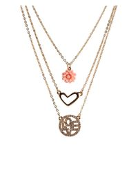 Aéropostale | Metallic Love Tiered Short-strand Necklace | Lyst