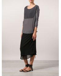 Transit - Black Chiffon Layer Skirt - Lyst