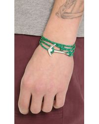 Miansai | Green Anchor Rope Wrap Bracelet for Men | Lyst