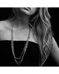 David Yurman | Metallic Confetti Station Necklace With Diamonds And Gold | Lyst