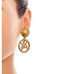 Moschino | Metallic Dry Cleaning Sign Earrings | Lyst