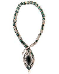Roberto Cavalli | Green Snake Swarovski Necklace | Lyst