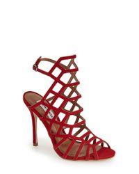 Steve Madden | Multicolor Slithur Caged Leather Sandals | Lyst