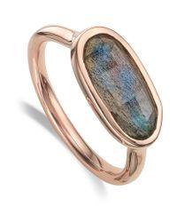 Monica Vinader | Metallic Vega Labradorite Ring | Lyst
