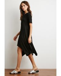 Forever 21 | Black Trapeze T-shirt Dress | Lyst