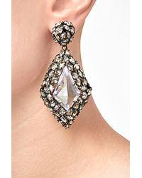 Alexis Bittar | Black Crystal Pendant Earrings | Lyst