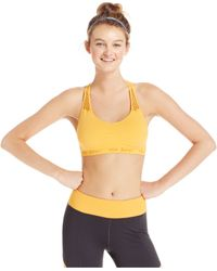 Betsey Johnson | Orange Seamless Low-impact Racerback Sports Bra | Lyst