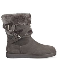 G by Guess | Gray Azzie Cold Weather Booties | Lyst