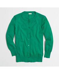 J.Crew - Green Factory Clare Cardigan - Lyst