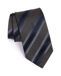 BOSS - Black Stripe Silk Tie for Men - Lyst