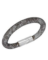 Swarovski | Stardust Crystal And Black Fishnet Bracelet | Lyst