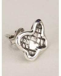 Bottega Veneta - Metallic Butterfly Earrings - Lyst