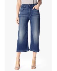 7 For All Mankind - Blue Culotte With Let Down Hem In Medium Broken Twill - Lyst