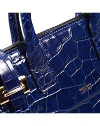 Giorgio Armani - Blue Handbag Bag Dakar Small Print Croco Print - Lyst
