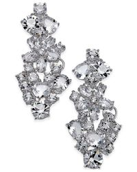 kate spade new york | White Boathouse Crystal Statement Earrings | Lyst
