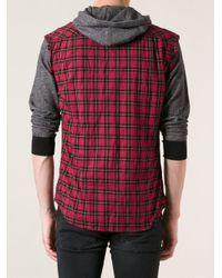 DIESEL - Red Sneha Sleeveless Tartan Shirt for Men - Lyst