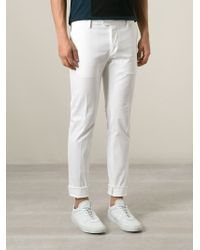 DSquared² - White Skinny Chino Trousers for Men - Lyst