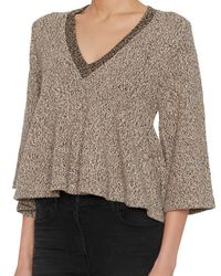 Apiece Apart | Brown Exclusive Bell Bodice Marled Knit | Lyst
