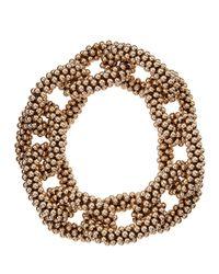 Meredith Frederick | Metallic Elsa 14K Beaded Link Bracelet | Lyst