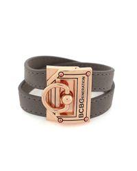BCBGeneration | Gray Rose Goldtone Knock Out Wrap Bracelet | Lyst