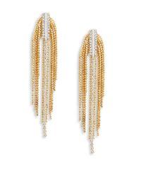 Cara | Metallic Chain Chandelier Earrings | Lyst