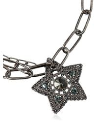 Lanvin | Metallic Stars & Moon Swarovski Crystal Necklace | Lyst