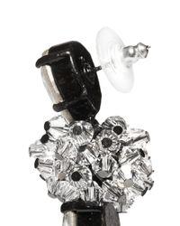 Erickson Beamon | Metallic 'midnight Lace' Crystal Drop Earrings | Lyst