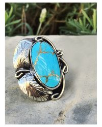 Natalie B. Jewelry - Blue Natalie B. Two Raven Ring In Turquoise - Lyst