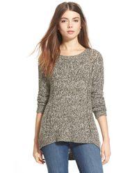 Hinge - Gray Back Detail Sweater - Lyst