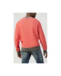 True Religion | Red Skull Print Raglan Mens Sweatshirt for Men | Lyst