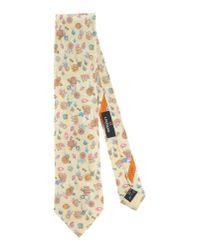 Leonard - Yellow Tie for Men - Lyst