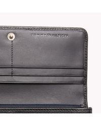Tommy Hilfiger | Black Pebbled Leather Wallet | Lyst
