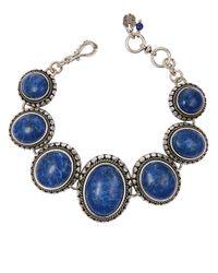 Lucky Brand - Blue Lapis Stone Bracelet - Lyst