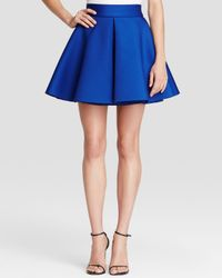 Aqua | Blue Skirt - Inverted Pleat Flared | Lyst