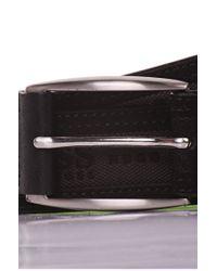 BOSS Green - Black 'testio' | Leather Embossed Logo Belt for Men - Lyst