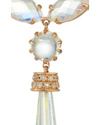 "Shawn Ames | Multicolor One-Of-A-Kind ""Signature Sucre"" Rainbow Moonstone, Opals, And Diamond Earrings 