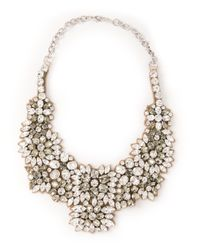 Valentino - Metallic Embellished Bib Necklace - Lyst